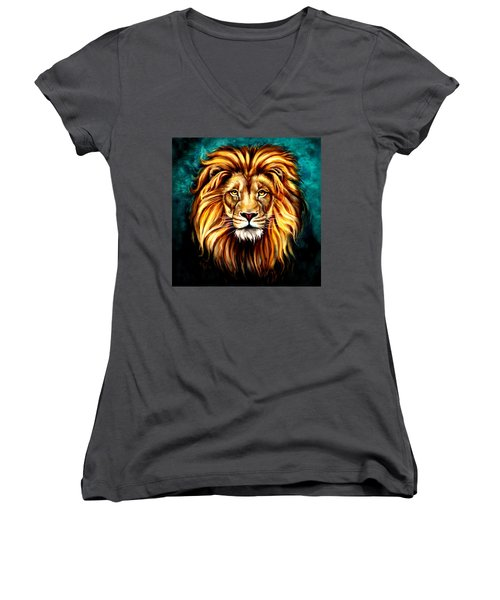 Women's V-Neck T-Shirt (Junior Cut) featuring the digital art In Honor Of Cecil by Karen Showell