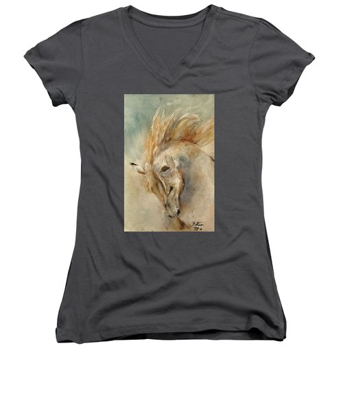 In Humble Praise Women's V-Neck (Athletic Fit)