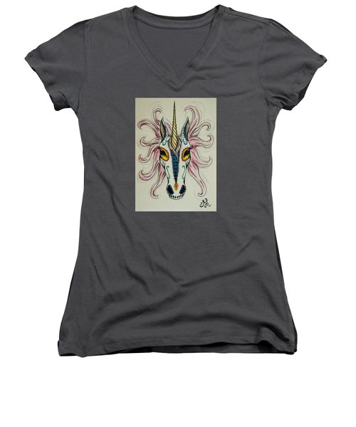 In Memory Of The Long Lost Unicorn Women's V-Neck T-Shirt