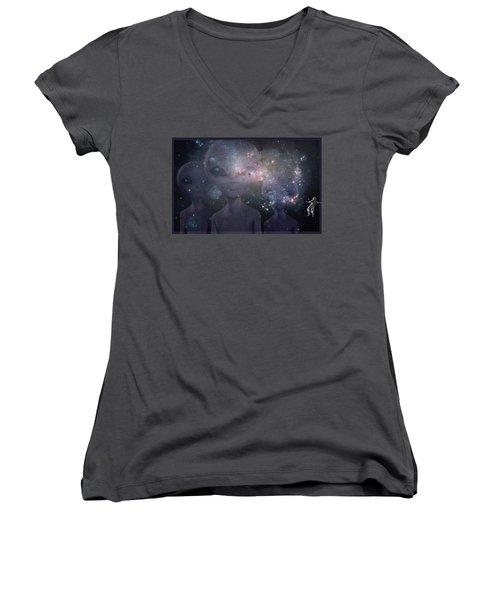 In Space Women's V-Neck