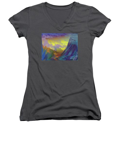 In The Beginning Women's V-Neck (Athletic Fit)
