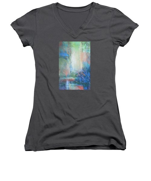 In The Depths Women's V-Neck T-Shirt (Junior Cut) by Becky Chappell