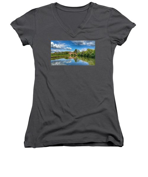 In The Dream Women's V-Neck T-Shirt (Junior Cut) by Isabella F Abbie Shores FRSA