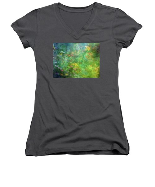 In The Garden 2296 Idp_2 Women's V-Neck (Athletic Fit)