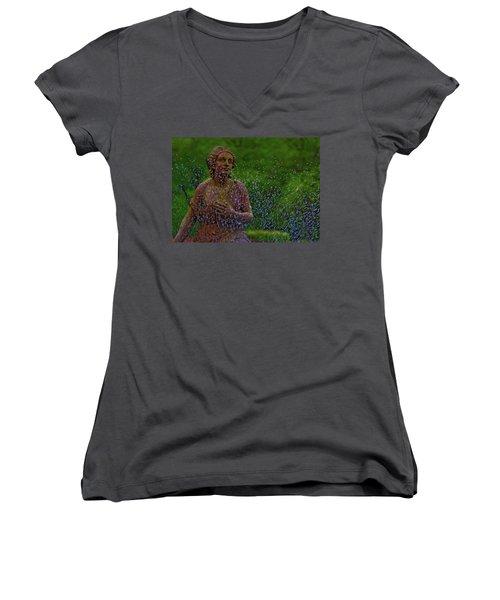 In The Garden Women's V-Neck T-Shirt