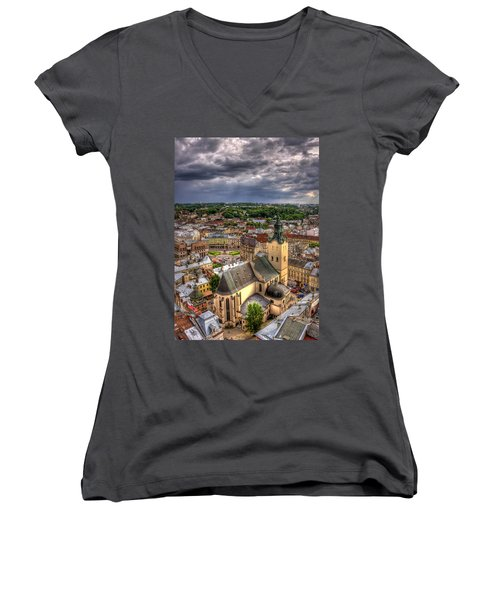 In The Heart Of The City Women's V-Neck T-Shirt