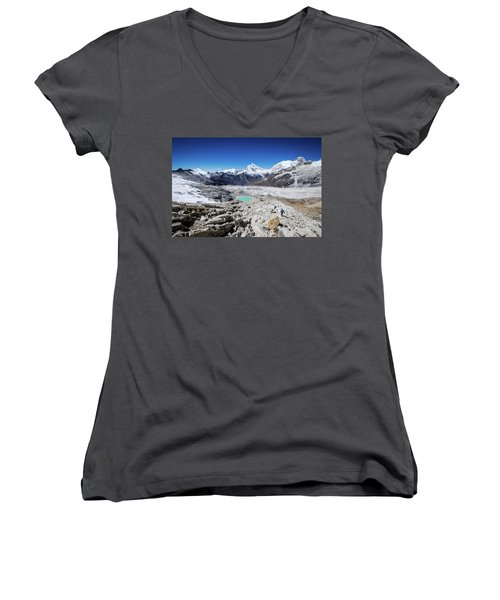 In The Middle Of The Cordillera Blanca Women's V-Neck (Athletic Fit)