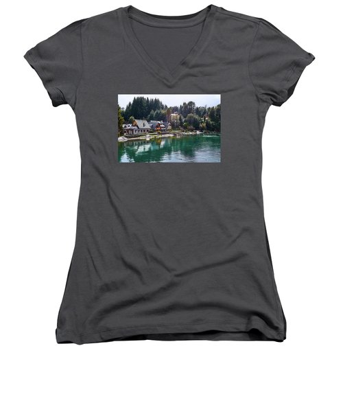 Rustic Museum In The Argentine Patagonia Women's V-Neck