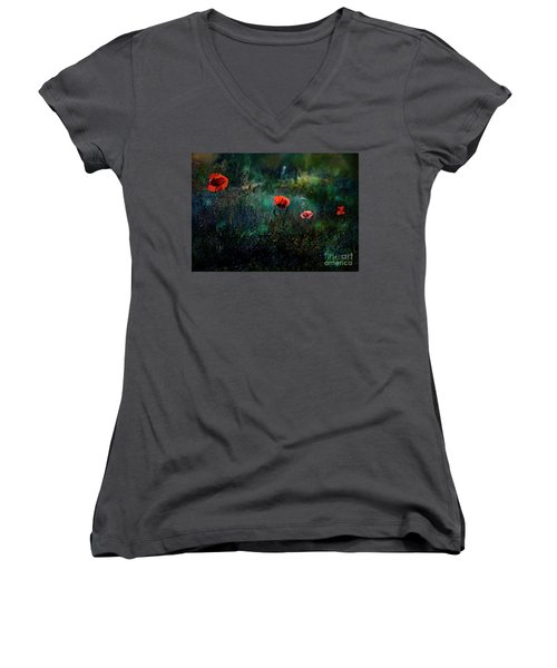 In The Morning Women's V-Neck T-Shirt (Junior Cut) by Agnieszka Mlicka