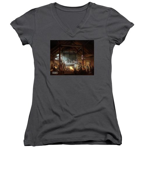 In The Name Of Odin Cover Art Women's V-Neck