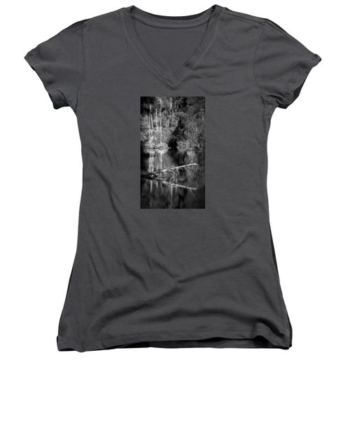 In The Quiet Women's V-Neck T-Shirt (Junior Cut) by Allen Beilschmidt