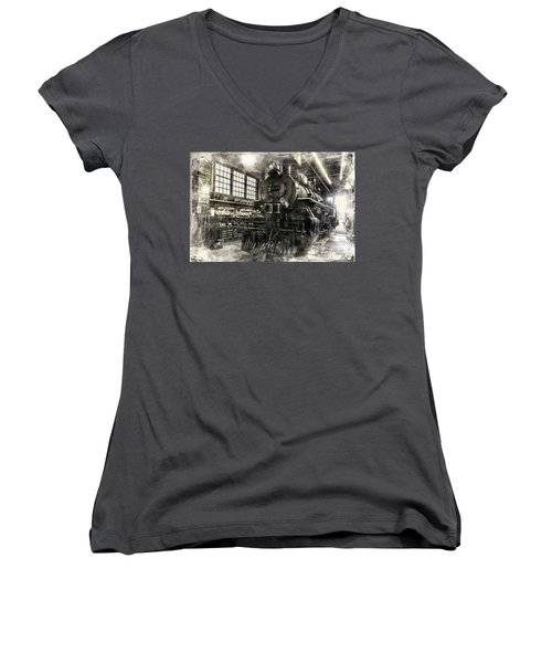 In The Roundhouse Women's V-Neck