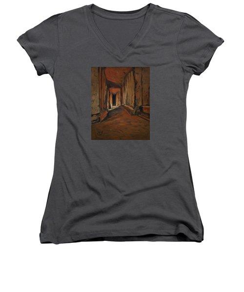 l'Origine de Maestricht Sint Pieter Maastricht  Women's V-Neck T-Shirt (Junior Cut) by Nop Briex