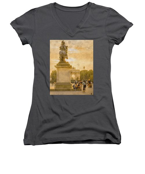 Paris, France - In The Shadow Of Glory Women's V-Neck