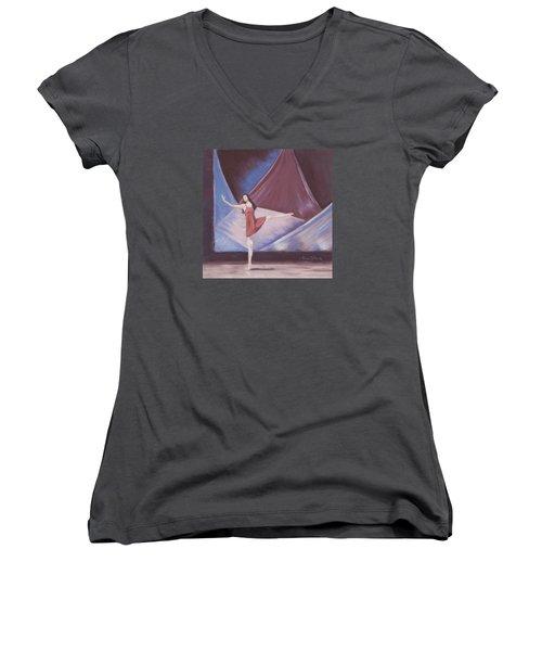In The Spotlight Women's V-Neck T-Shirt