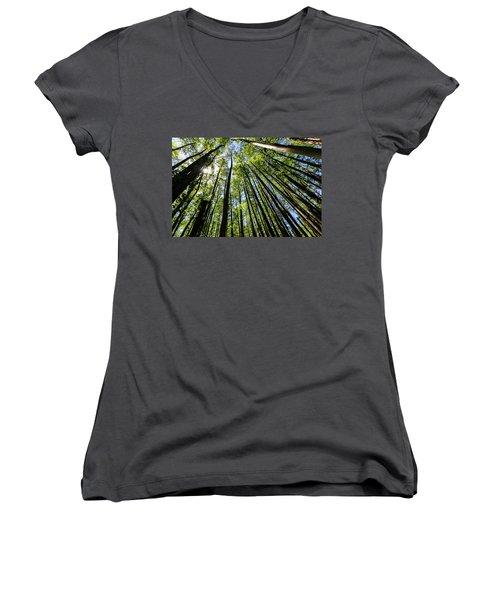 In The Swamp Women's V-Neck T-Shirt (Junior Cut) by Menachem Ganon