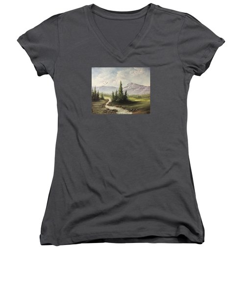 In The Valley  Women's V-Neck T-Shirt
