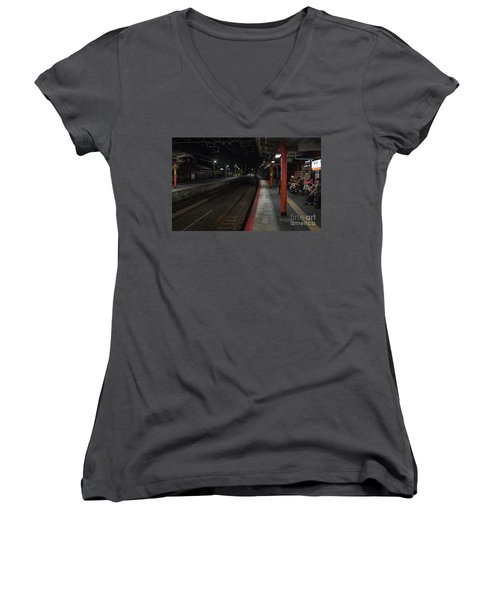 Inari Station, Kyoto Japan Women's V-Neck T-Shirt