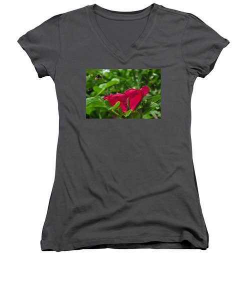 Incoming Rose Women's V-Neck
