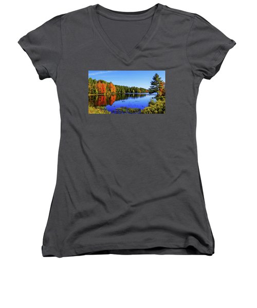 Women's V-Neck T-Shirt (Junior Cut) featuring the photograph Incredible by Chad Dutson