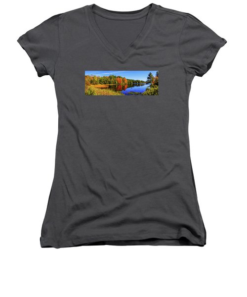 Women's V-Neck T-Shirt (Junior Cut) featuring the photograph Incredible Pano by Chad Dutson
