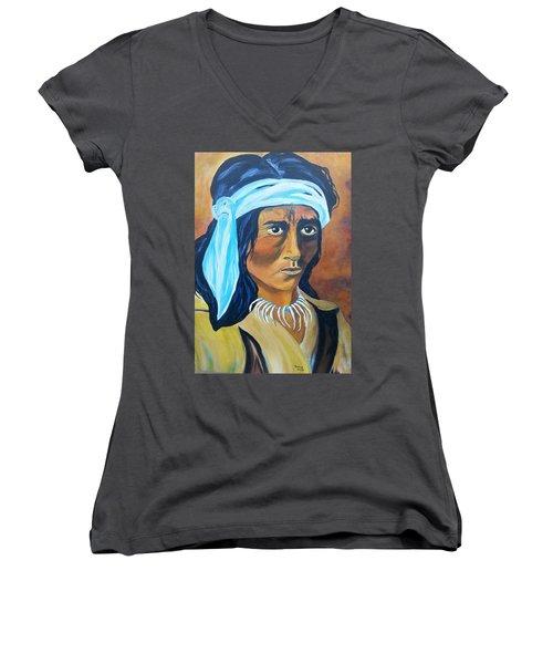 Indian Brave Women's V-Neck T-Shirt