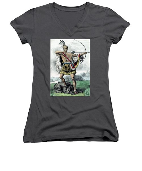 Indian Hunter Women's V-Neck (Athletic Fit)
