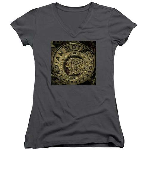 Indian Motorcycle Logo Women's V-Neck