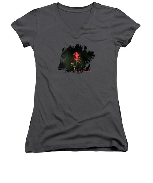 Indian Paintbrush 3 Women's V-Neck T-Shirt