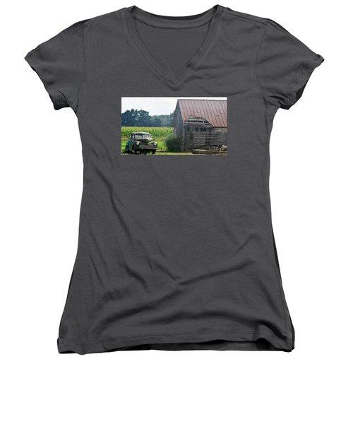 Indiana Back Road Common Denominator Women's V-Neck T-Shirt