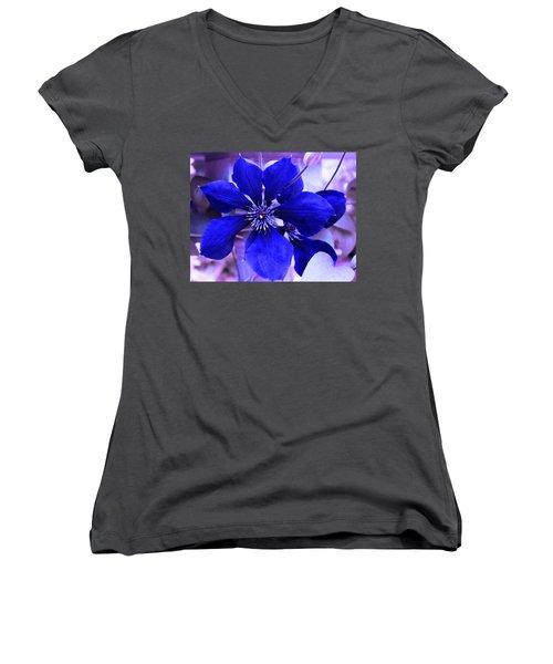 Indigo Flower Women's V-Neck