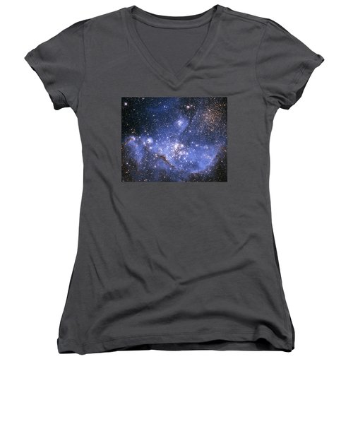 Infant Stars In The Small Magellanic Cloud  Women's V-Neck
