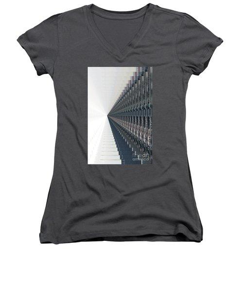 Infinite Possibilities _singapore Women's V-Neck T-Shirt (Junior Cut) by Scott Cameron