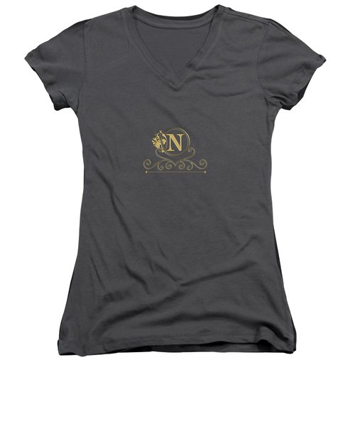 Initial N Women's V-Neck (Athletic Fit)