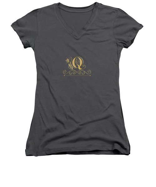 Initial Q Women's V-Neck (Athletic Fit)