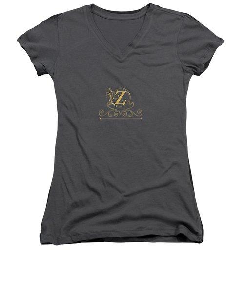 Initial Z Women's V-Neck (Athletic Fit)