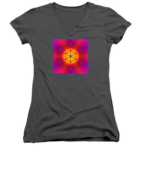 Inner Comet Women's V-Neck T-Shirt (Junior Cut) by Robert Thalmeier