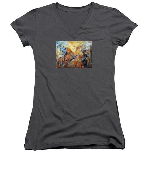 Inner Depth Women's V-Neck T-Shirt (Junior Cut) by Roberta Rotunda