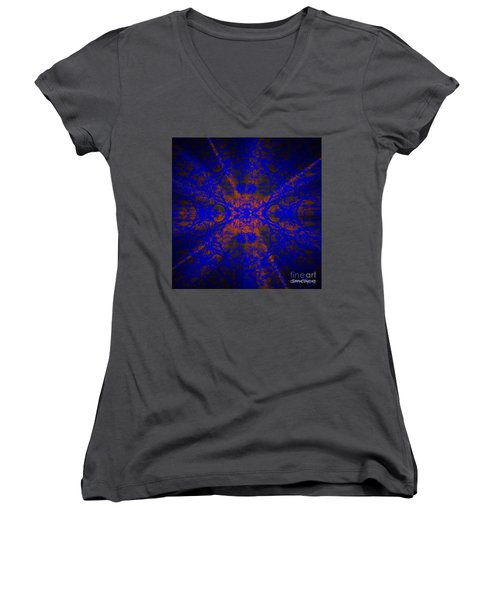Inner Glow - Abstract Women's V-Neck (Athletic Fit)