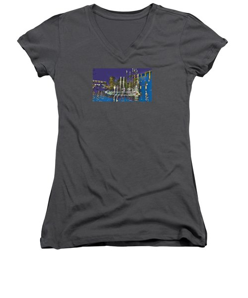 inside the heart of Glendale - 200,000 hearts beat Women's V-Neck (Athletic Fit)