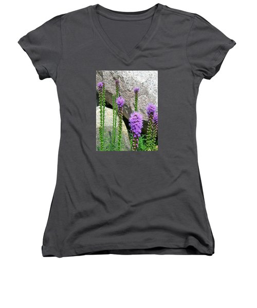 Inspired Women's V-Neck T-Shirt (Junior Cut) by Randy Rosenberger
