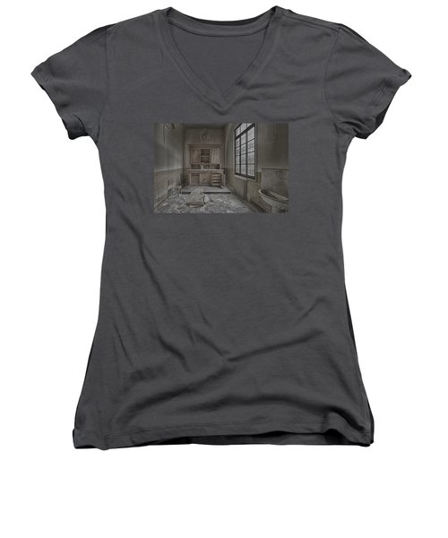 Interior Furniture Atmosphere Of Abandoned Places Dig Photo Women's V-Neck