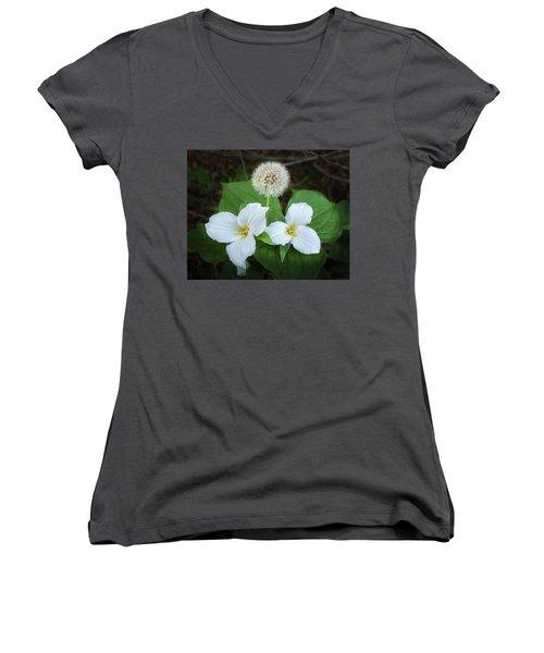 Women's V-Neck T-Shirt (Junior Cut) featuring the photograph Interloper by Bill Pevlor