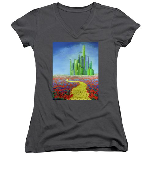 Interlude On The Journey Home Women's V-Neck
