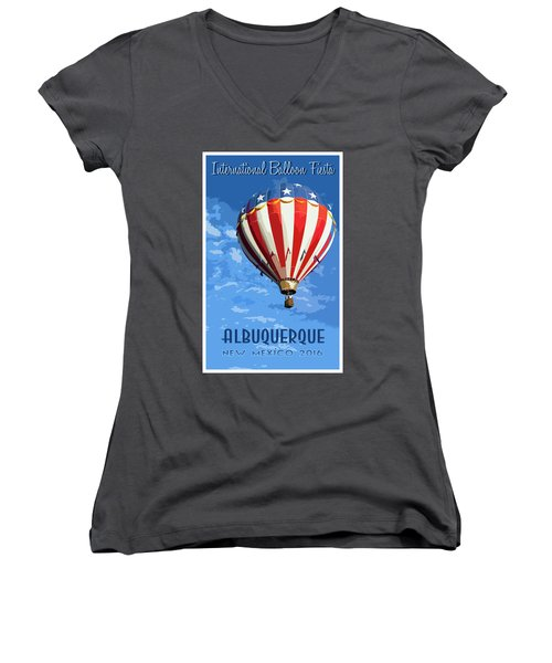 International Balloon Fiesta Women's V-Neck (Athletic Fit)
