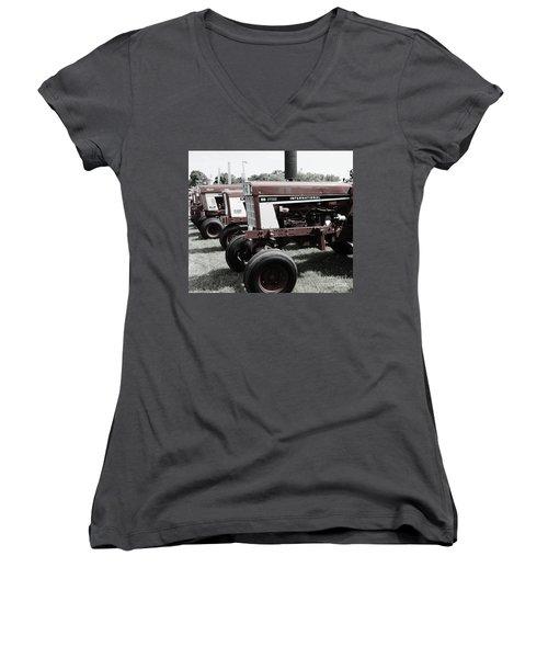 International Line Up Women's V-Neck T-Shirt (Junior Cut) by Meagan  Visser