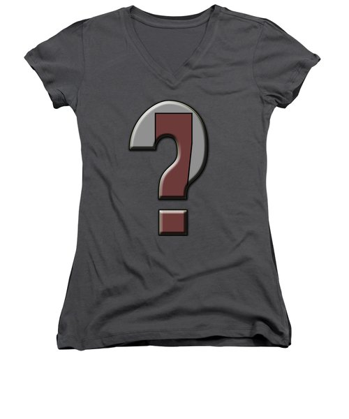 Interrobang 4 Women's V-Neck T-Shirt (Junior Cut) by Brian Wallace