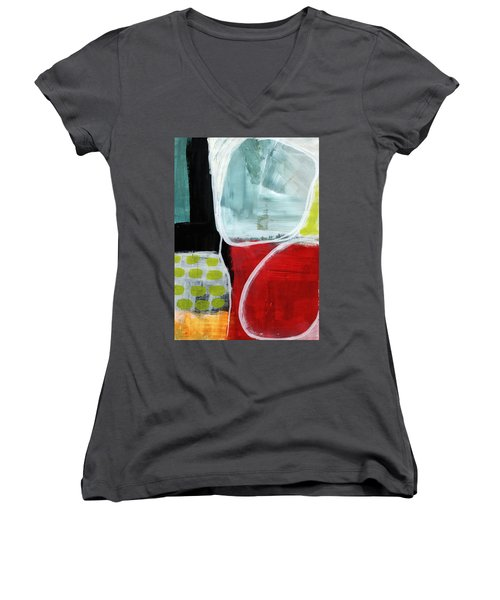 Intersection 37- Abstract Art Women's V-Neck