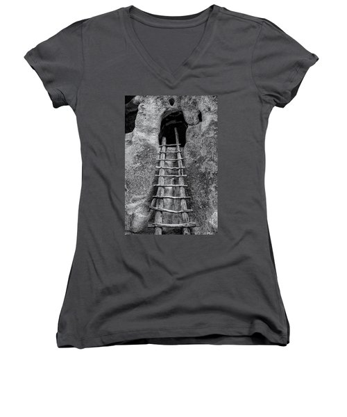 Into The Alcove Women's V-Neck T-Shirt (Junior Cut) by Gary Lengyel