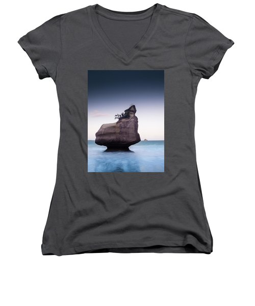 Into The Blue Women's V-Neck T-Shirt (Junior Cut) by Alex Conu